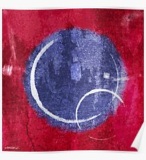 Textured Blue Moon Poster