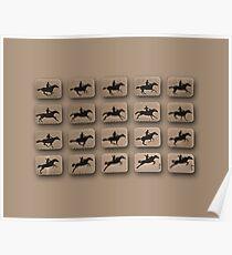 Eadweard Muybridge – 1830-1904 – Locomotion Theory – Horse and Jump – Beige Poster