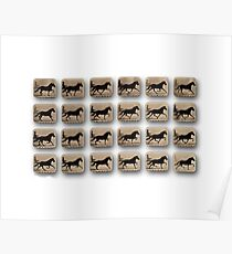 After – Eadweard Muybridge – 1830-1904 – Locomotion Theory – Horse and Cart – White Poster