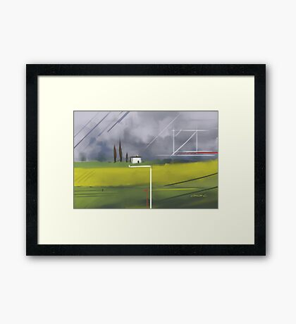 Geometrical Landscape I Framed Print