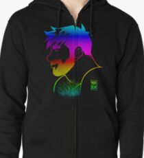 ADAM LIKES RAINBOWS - GAY PRIDE Zipped Hoodie