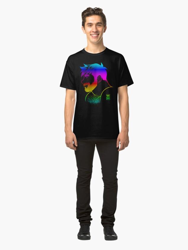Alternate view of ADAM LIKES RAINBOWS - GAY PRIDE Classic T-Shirt