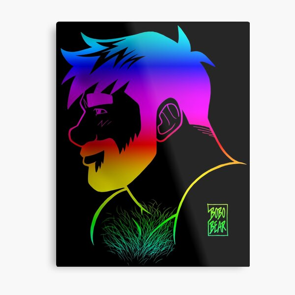 ADAM LIKES RAINBOWS - GAY PRIDE Metal Print