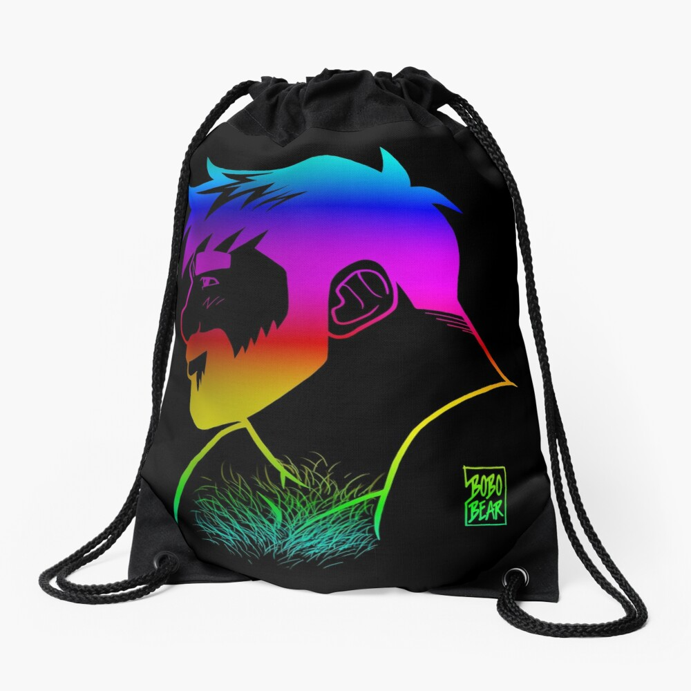 ADAM LIKES RAINBOWS - GAY PRIDE Drawstring Bag