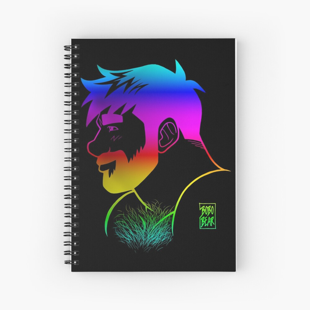 ADAM LIKES RAINBOWS - GAY PRIDE Spiral Notebook
