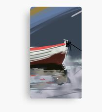 Fishermans boat deconstruction Canvas Print