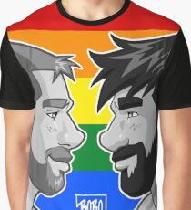 ADAM + BEN - GAYPRIDE - BLACK/WHITE Graphic T-Shirt