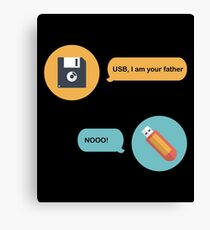 USB I Am Your Father Shirt Canvas Print