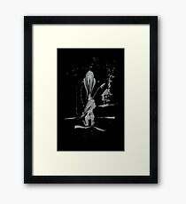 Brush and Ink - 0161 - Grandmother's House Framed Print