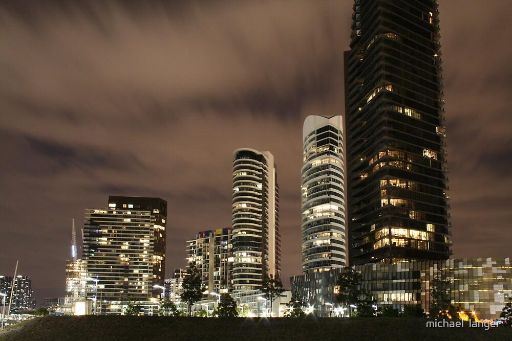 Docklands skyline by michael  langer