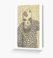 Carl the Demon Skeleton Greeting Card