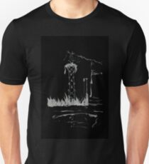 Brush and Ink - 0165 - Cat Tower Unisex T-Shirt