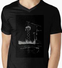 Brush and Ink - 0165 - Cat Tower Men's V-Neck T-Shirt