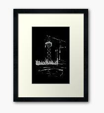 Brush and Ink - 0165 - Cat Tower Framed Print
