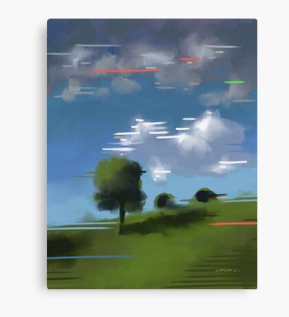 Highspeed landscape I Canvas Print
