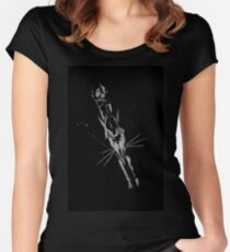 Brush and Ink - 0164 - Chilly Night Fox Women's Fitted Scoop T-Shirt