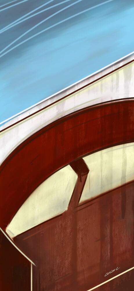 Sun on concrete arc I by Charlize Cape