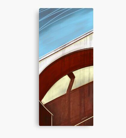 Sun on concrete arc I Canvas Print