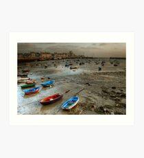 Barfleur à marée basse... Art Print