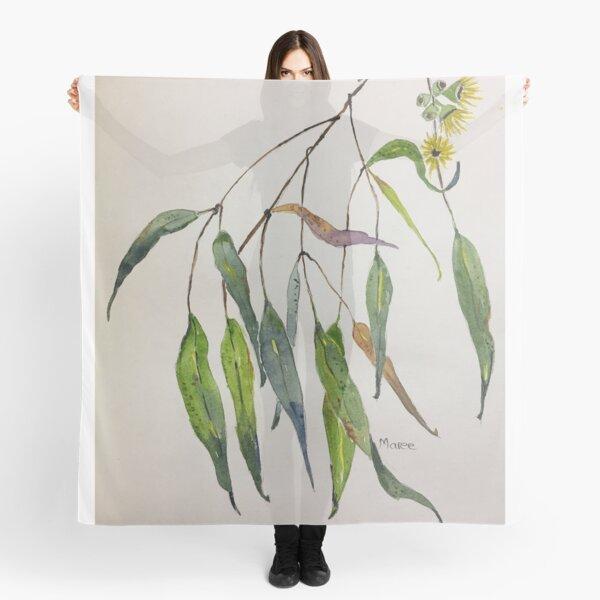 Gum leaves - Botanical illustration Scarf