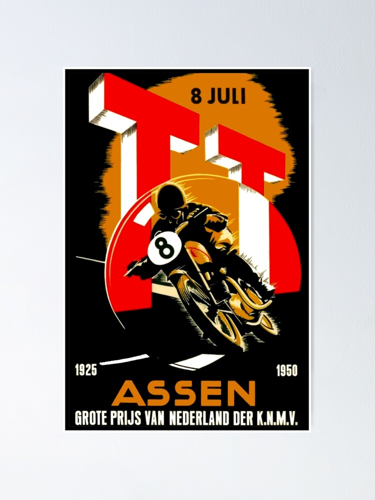 VINTAGE RACING POSTER Motorcycle Sidecar Racing Grand Prix MotoGP Rally Car Motorcycle Racing Streetbike Motorcycle Poster  Canvas