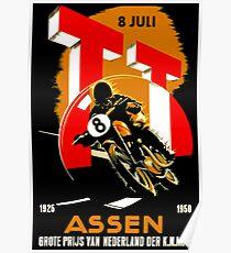 """MOTORCYCLE GRAND PRIX"" Vintage RACING Advertising Print Poster"