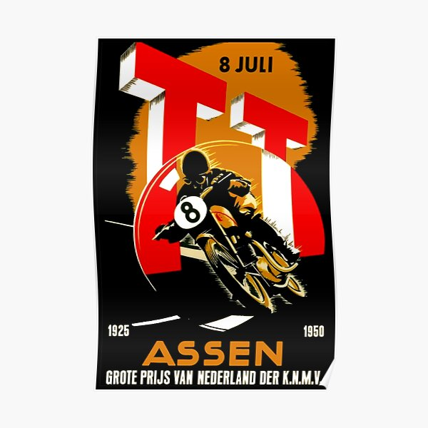 """Impression publicitaire """"RACING MOTORCYCLE GRAND PRIX"""" Poster"""