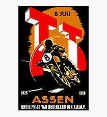 """MOTORCYCLE GRAND PRIX"" Vintage RACING Advertising Print Photographic Print"