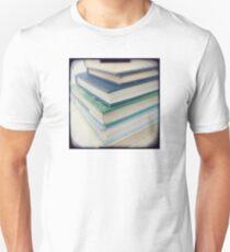Pile of books - blue Unisex T-Shirt