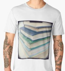 Pile of books - blue Men's Premium T-Shirt