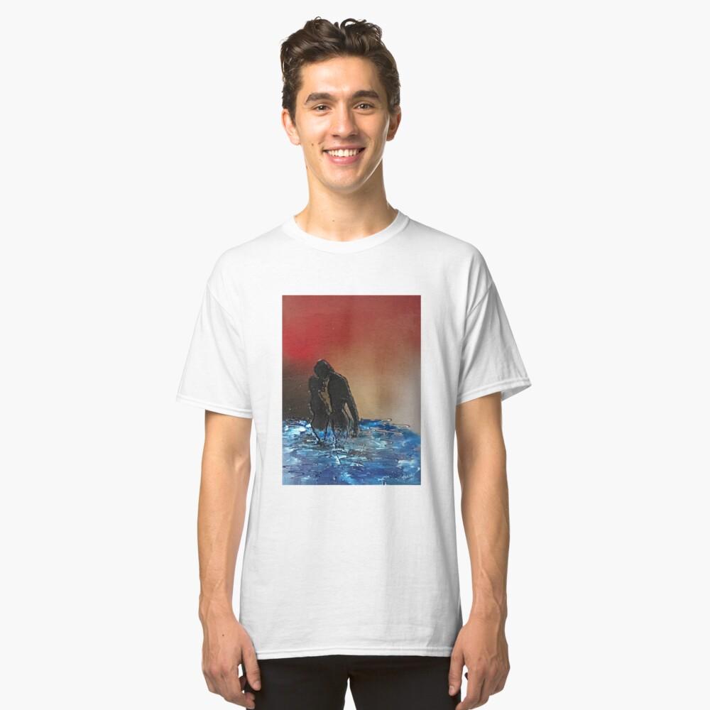 Romantic Sunset Lovers Classic T-Shirt