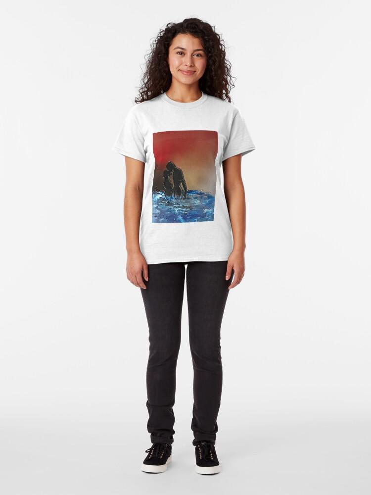 Alternate view of Romantic Sunset Lovers Classic T-Shirt