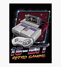 16-Bit Retro Gaming Photographic Print