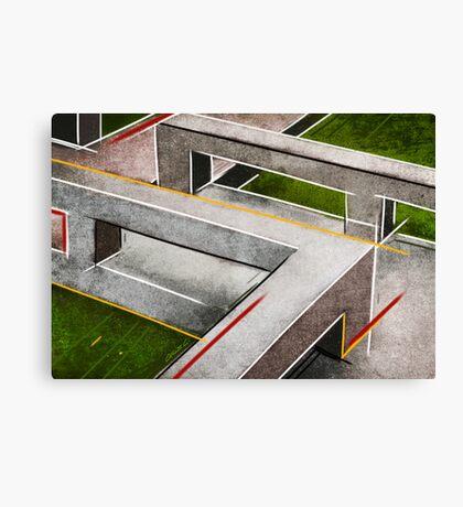 Concrete footbridge I Canvas Print
