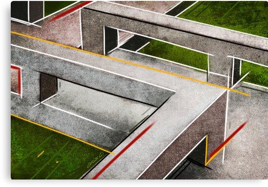Concrete footbridge I by Charlize Cape
