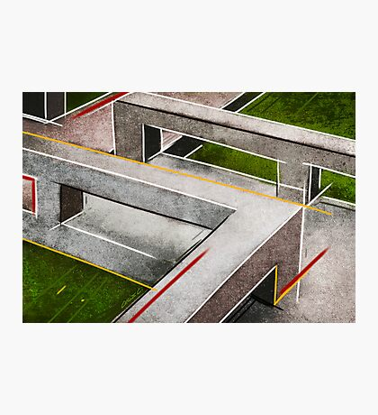 Concrete footbridge I Photographic Print