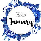 Hello January - monthly cover for planners, bullet journals,  by vasylissa