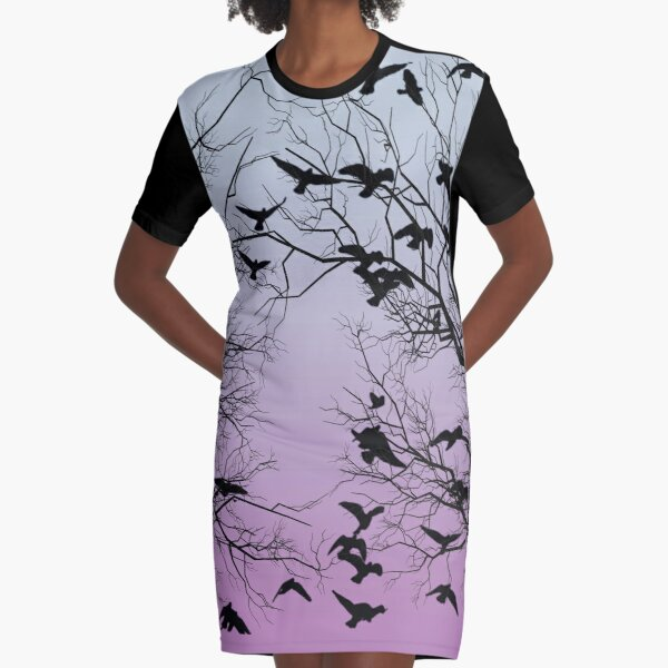 Crow flock  Graphic T-Shirt Dress