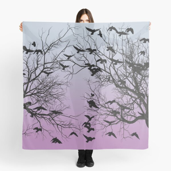Crow flock  Scarf