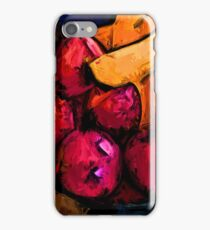 Pink Apples and Gold Bananas iPhone Case/Skin