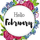 Hello February - monthly cover for planners, bullet journals  by vasylissa
