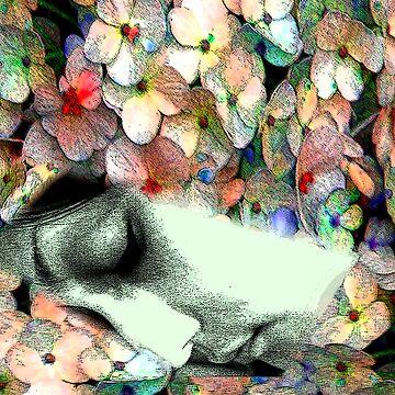 sleeping in the flower by flowerindattic