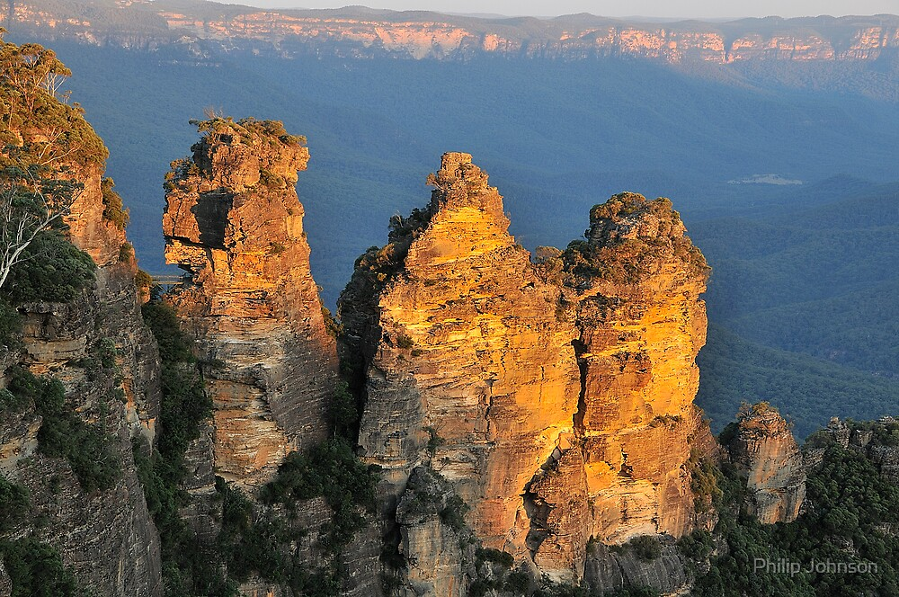 Sisters Sticking Together - Blue Mountains Series , Sydney Australia by Philip Johnson