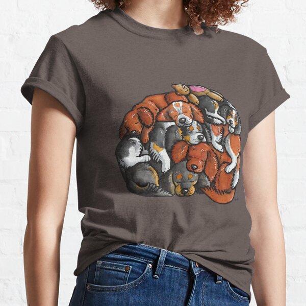 Sleeping pile of Cavalier King Charles Spaniels Classic T-Shirt