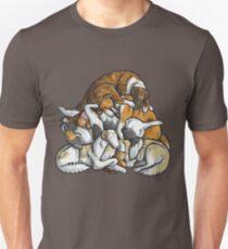 Sleeping pile of Borzoi dogs Unisex T-Shirt