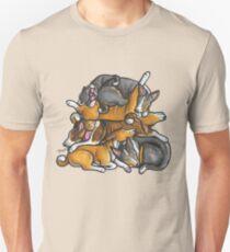 Sleeping pile of Basenji dogs Unisex T-Shirt