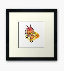 Torchic in Blaziken onesie! Framed Print