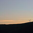 Sunset wind turbines by eleean0r