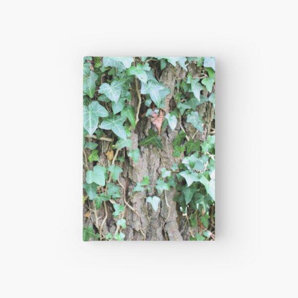 Ivy leaves on Oak tree Hardcover Journal