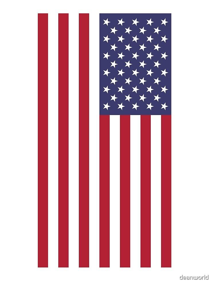 USA - bandera americana - cubierta del teléfono celular de deanworld